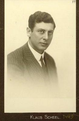 Klaus Scheel in 1914. Photograph: National Archives