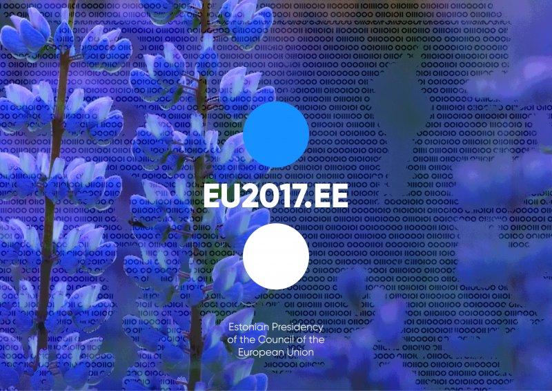 Simboli della Presidenza estone del Consiglio dell'Unione europea. Foto: Cancelleria di Stato
