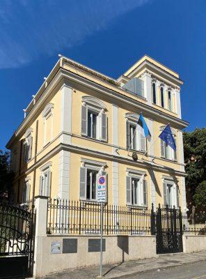 Estonian embassy building in Rome. Photograph: Embassy of Estonia in Rome