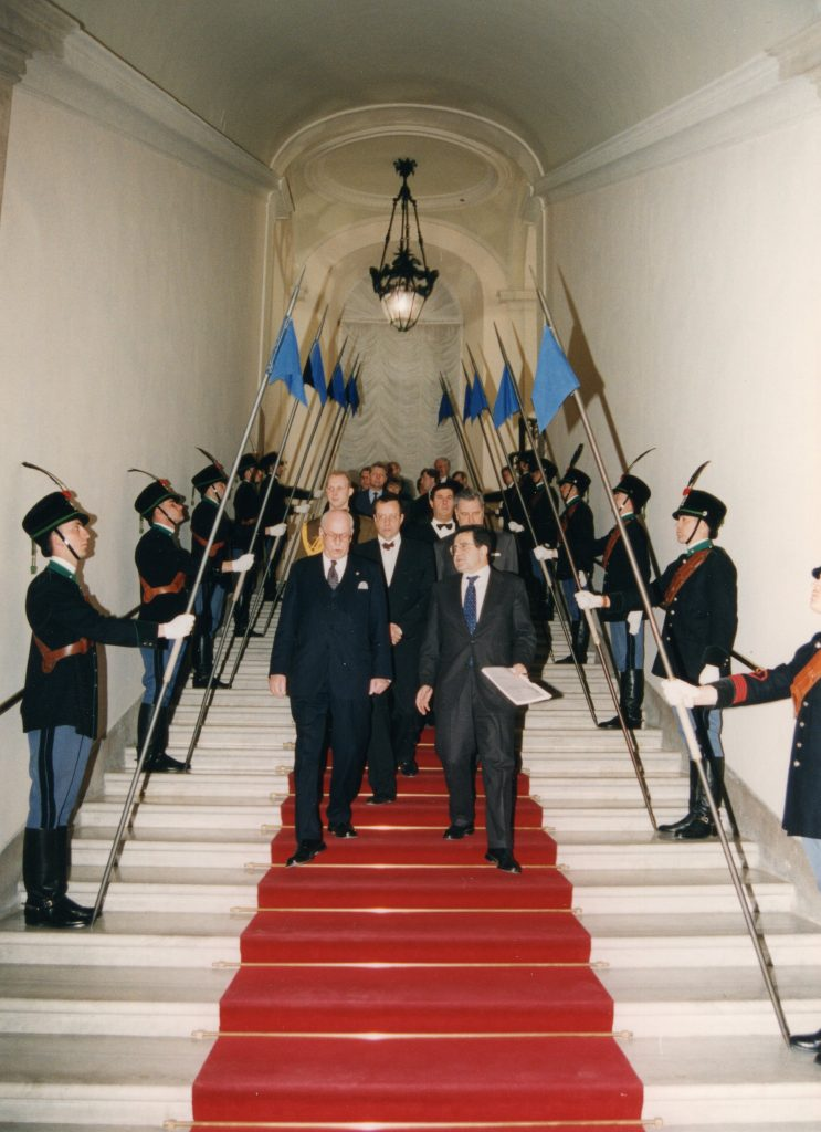 Meeting of President Lennart Meri with the Prime Minister of Italy Romano Prodi. Photograph: Voldemar Maask, archives of the Ministry of Foreign Affairs