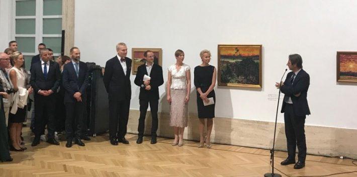 Inaugurazione della mostra personale di Konrad Mägi al Museo Nazionale Italiano di Arte Moderna e Contemporanea. Foto: Ambasciata d'Estonia a Roma
