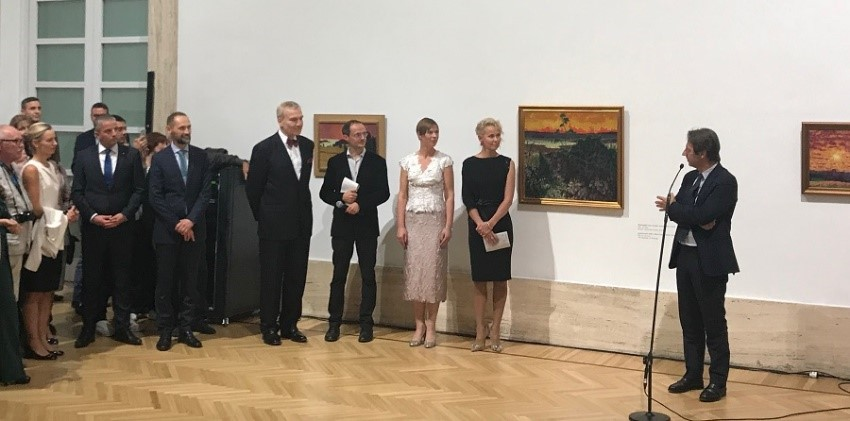 Opening of the solo exhibition of Konrad Mägi at the Italian National Museum of Modern and Contemporary Art.